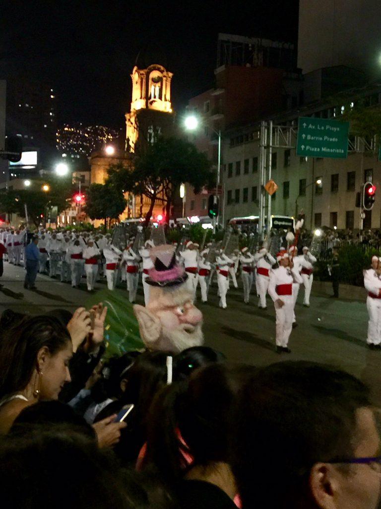 Marching Band at the Desfile de Mitos y Leyendas Deciembre 2018